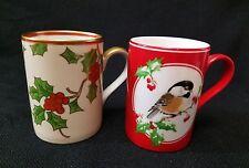 FITZ AND FLOYD Christmas Mug Cup  Set of 2.