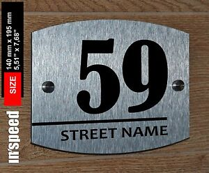 Details About Elegant Personalized House Sign 59 Plaque Plate Number And Street Name