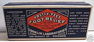 Details about Conklin Pretty Feet Bx Medicine Chicago Old Store Stock