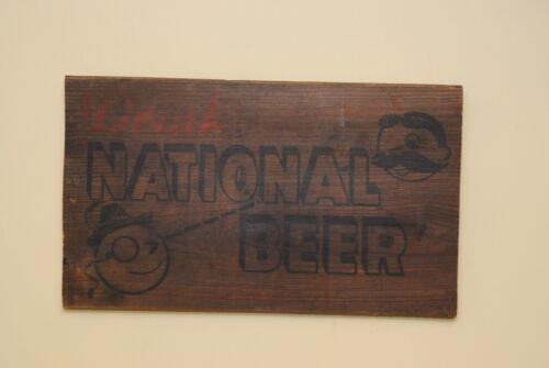 Original 1940s Hanging National Bohemian Beer Box Art //Natty Mr Boh//Baltimore