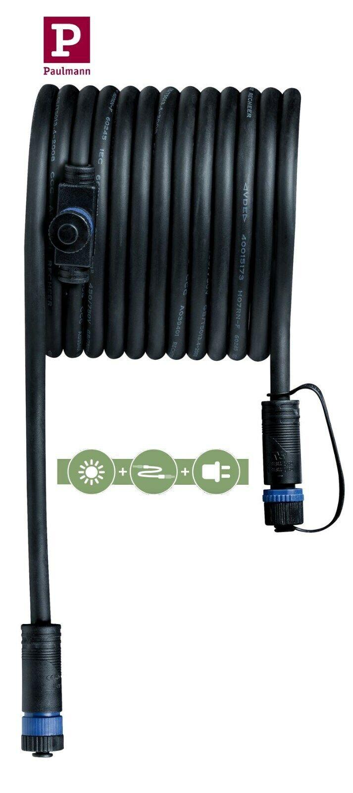 Trafo und Kabel Paulmann Plug /& Shine Basisset Erdspieß Pike IP65 3x3,5W inkl