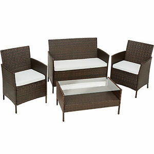 polyrattan gartenset gartenm bel garten m bel set rattan sitzgruppe balkonm bel ebay. Black Bedroom Furniture Sets. Home Design Ideas