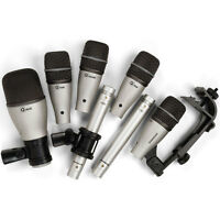 Samson 7Kit 7-Piece Drum Microphone Kit with Kick Snare 3x Tom & 2x Overhead Mic