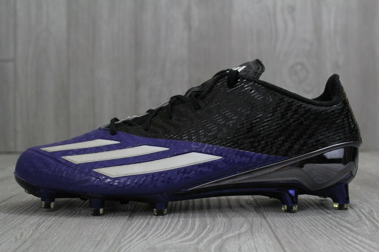 30 Adidas AdiZero 5 Star 5.0 Football Cleats Black Purple Men's 11, 11.5 AQ7168
