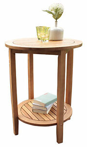 Side table Solid wood France Acacia Garden Furniture run