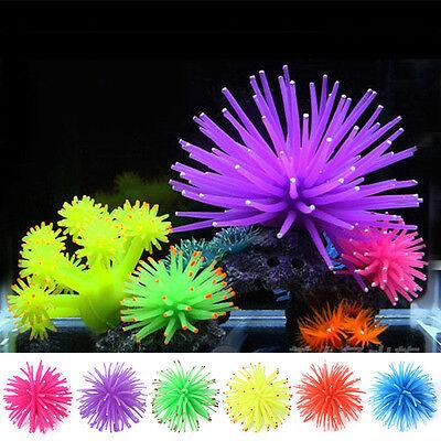 Plastic Coral Fish Tank Aquarium Silicone Ornament Decor Plant Decoration