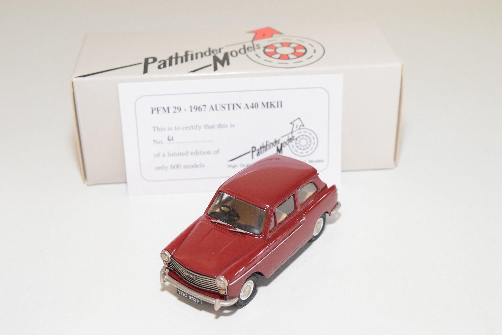 PATHFINDER MODELS PFM29 PFM 29 1967 AUSTIN A40 MKII rojo MINT BOXED 61 600