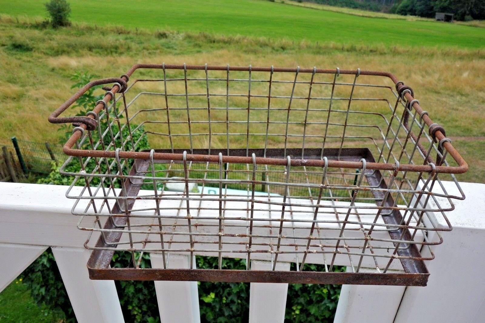 Shabby Deko Deko Deko Korb Wohnbereich Küche Haus Garten Retro Eisen Rost 18 x40 x25cm NEU | Sonderangebot  c66131
