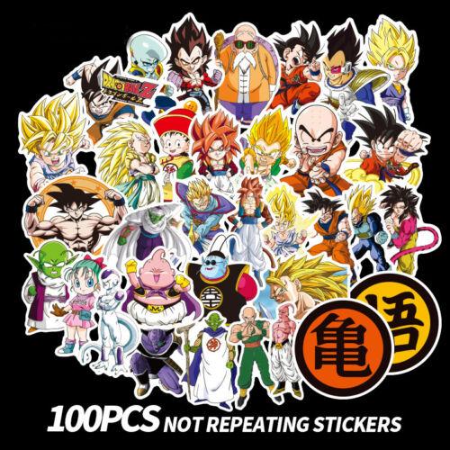 100Pc Anime Dragon Ball Z Super Saiyan Goku Sticker Aufkleber für Draw-Bar Kiste