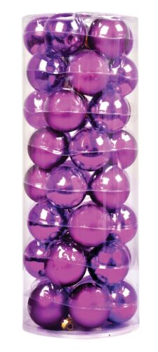 Ensemble de 40 véritable verre violet arbre de Noël décorations Verre Boules de