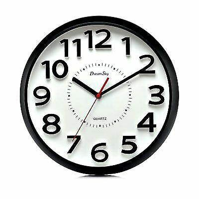 Dreamsky 13 Inch Large Wall Clock Non Ticking Silent Quartz