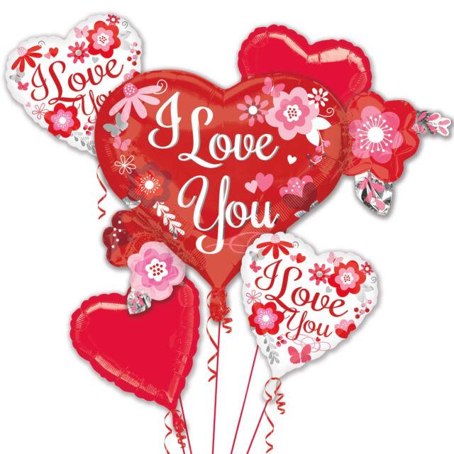 Amscan 3208099 Bouquet I Love You Flowers Foil Balloon