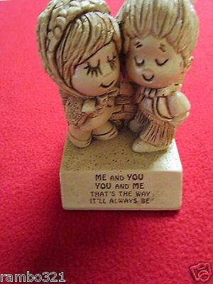 1970 ME and YOU Children Couple Paula USA vintage and retro collectible figure