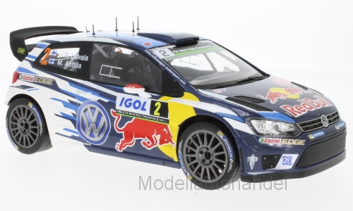 VW Polo R WRC  2 VW Motorsport, rot Bull 2016 Latvala  - 1 18 IXO     NEW