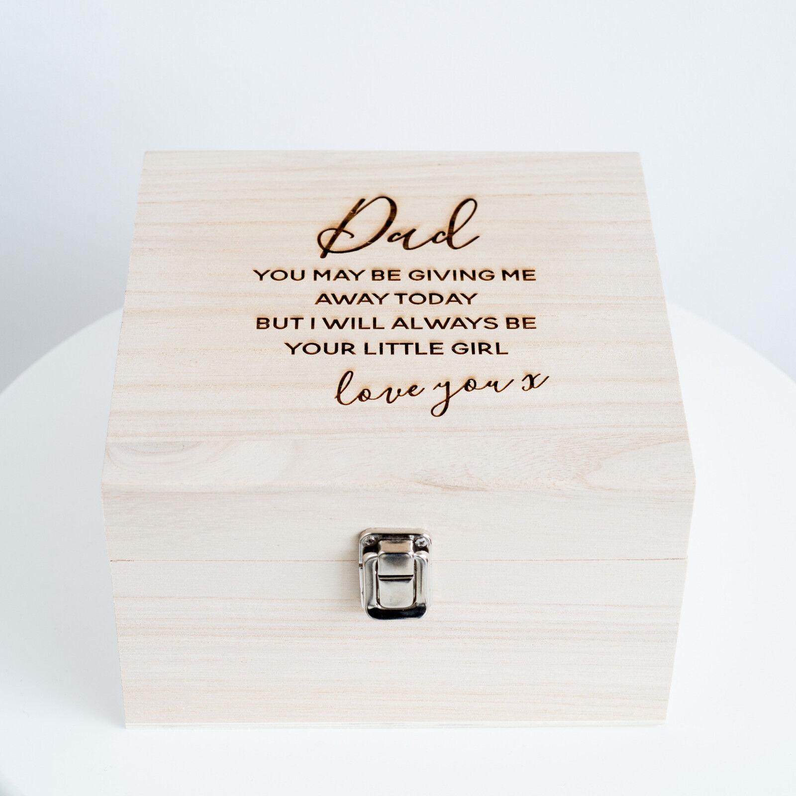 PAPA'   Papà  il Matrimonio  Ricordo Scatola, il  padre della sposa scatola regalo (ohso 98-LR) 2aee9e