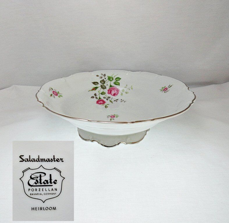 Saladmaster Heirloom Porcelain Footed Round Vegetable Bowl