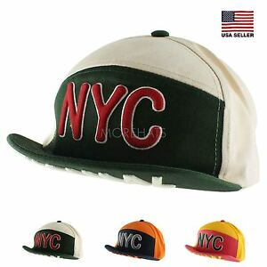 Details about Flip Up NYC Short Brim Snapback Hip-hop New Era Flat Bill  Baseball Cap Hat d8942368fae