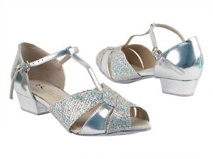 fa53b9a5c69 Women s West Coast Swing Salsa Ballroom Dance Shoes low Heel 1 Very ...