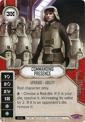 Awaken Sold with matching Die Star Wars Destiny: Commanding Presence Mint//NM
