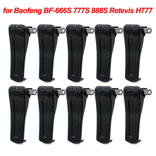 10x Retevis Belt Clip for H777 Baofeng BF-666S BF-777S 888S Walkie Talkie Radios
