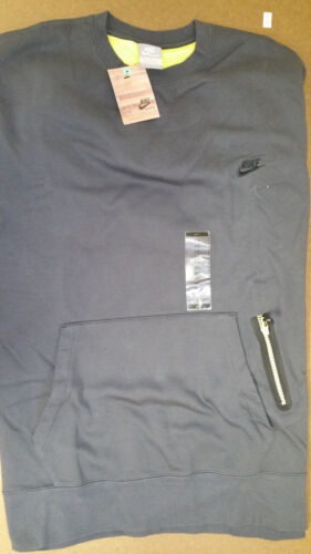Nike Authentic Men/'s Training Fleece Crew Sweater Kangaroo PocketGrey 439285-060