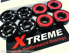 *8 Pack ABEC 9 REDS. XTREME HIGH PERFORMANCE BEARINGS SKATEBOARD SCOOTER SKATES