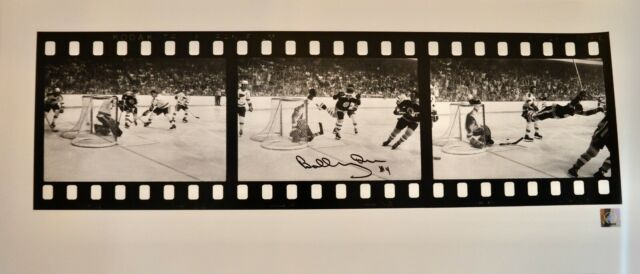 AUTO GREAT NORTH ROAD BOBBY ORR BOSTON BRUINS 28X12 THE GOAL FILMSTRIP