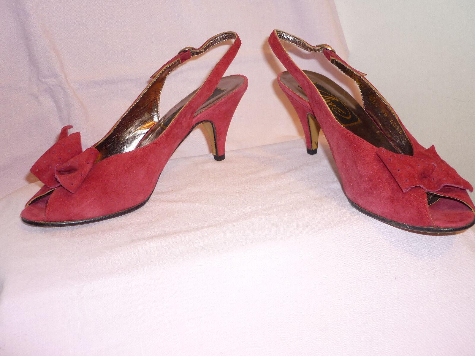 NEU! Lux-wein-rot Sandalette Samt-Leder Gr.36,5-37(23,5) Abs.7