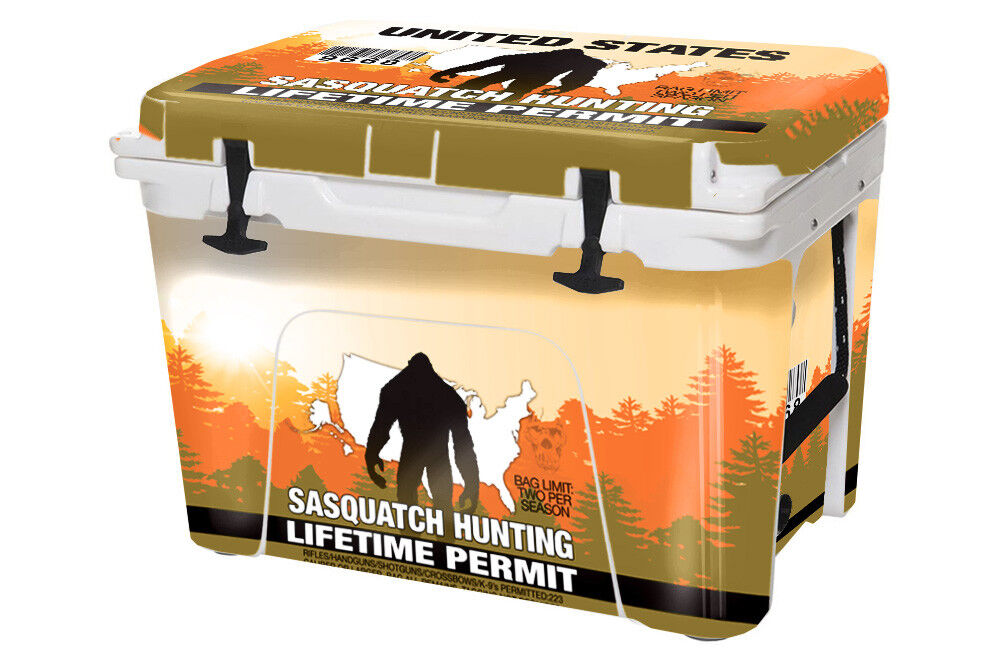USATuff Egen kylare Decal Wrap passar YETI Tundra 105qt FULL Sasquatch Hunting