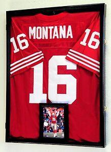 b7b317524 NFL Football Jersey Display Case Frame Wall Box Cabinet + FREE 5x7 ...