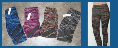Damen Sporthose Sportleggings Hose leggings mit druchsichtigen Streifen