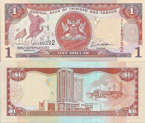 $1 oil complex Scarlet Ibis // Industrial Complex Trinidad /& Tobago P41a UNC