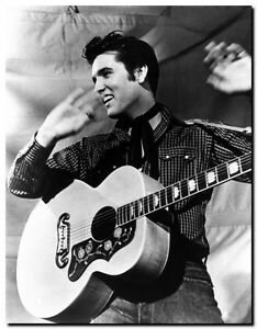 ELVIS PRESLEY GUITAR live -Quality Canvas Art Print A4