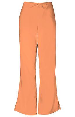 Cherokee Workwear Flare Leg Drawstring Pants Orange Sorbet 4101 ORSW