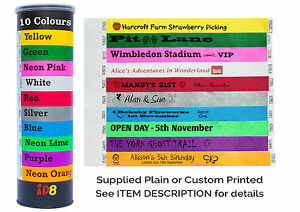 Plain-amp-Custom-Printed-Tyvek-Wristbands-19mm-Parties-amp-Identification