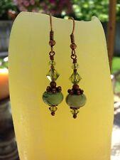 Calipso Handmade Earrings Jewelry,Precious Stones & Swarovski Crystals Style#208