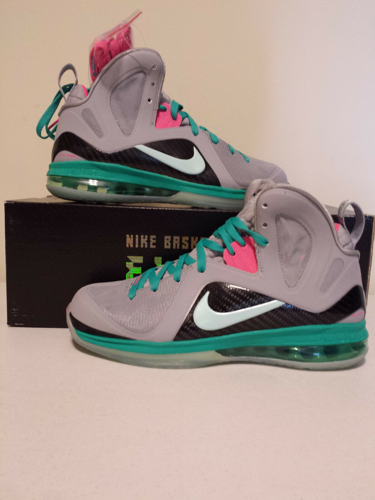 NIke Air Lebron 9 P.S. Elite South Beach SZ 8 516958-001 2012 Release