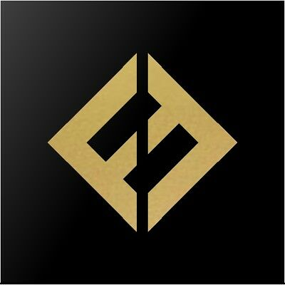 Foo Fighters Concrete And Gold Album Logo Car Window