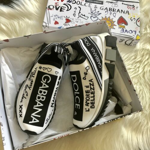 NIB $795 Dolce /& Gabbana SORRENTO GRAFFITI PRINT sneakers
