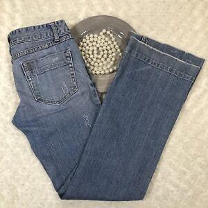 Aeropostale-Womens-Skinny-Flare-Jeans-Size-5-6-Stretch-Blue-Denim-KW655