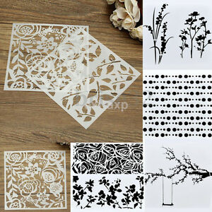Image Is Loading Layering Stencils Spray DIY Furniture Template  Patterns Wall