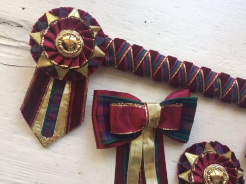 The Lindsey Showing Set  Browband//Show Bows//Buttonhole.