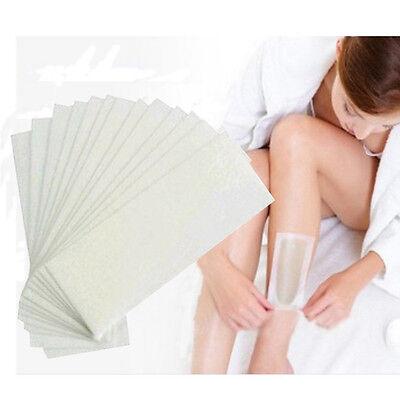 100 pcs Hair Removal Depilatory Non-woven Epilator Wax Strip Paper Waxing