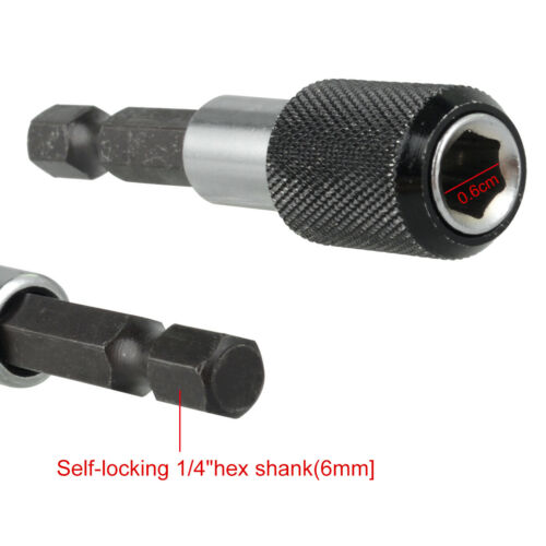 4* Magnetic Screwdriver Extension Quick Release 1//4 Hex Shank Holder Drill Bits