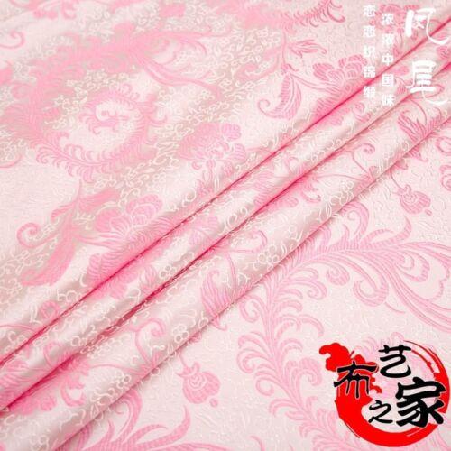 Chinois en Satin tissu de brocart jacquard damassé Tang Costume ameublement au mètre Rouge