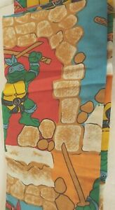 Vintage-1988-Mirage-Studios-TMNT-Teenage-Mutant-Ninja-Turtles-Flat-Twin-Sheet
