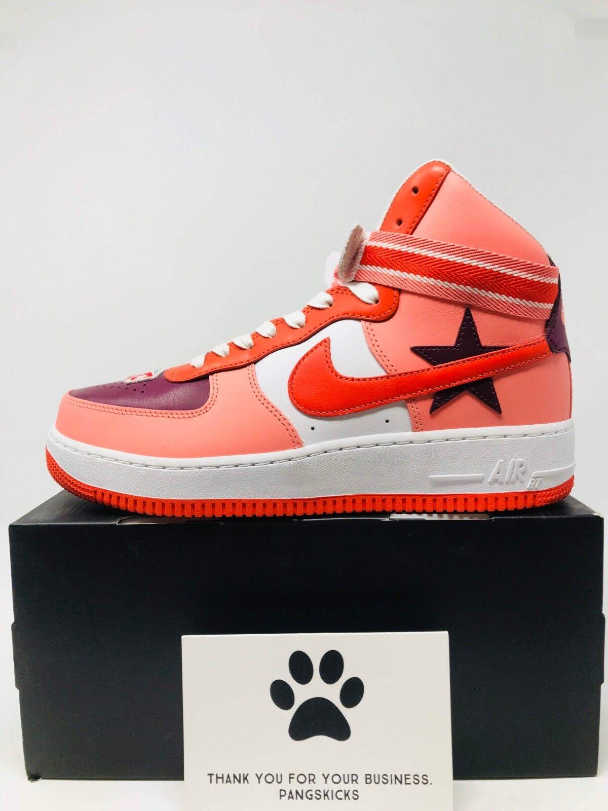 Nike air force 1 hohe nikelab x rt riccardo riccardo riccardo tisci sunblush aq3366-601 größe 9. 663b8f