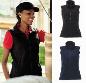 Donna-Regatta-Haber-II-pile-Gilet-Imbottito-Shaped-Fit-zip-completa-nero-o-blu-scuro