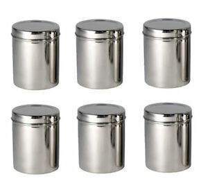 6 Pcs Stainless Steel Storage BoxGrainFlour Dabba Canister