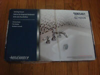 Aquasource Glyndon Tub Only Faucet Chrome Finish Brand